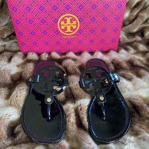 Tory Burch - Black Miller Patent Sandal - Size 6